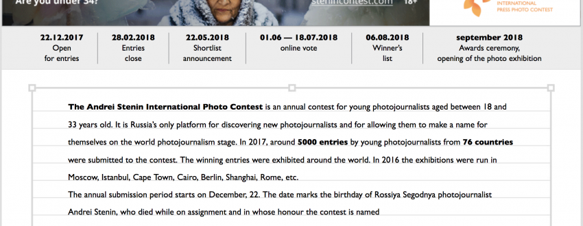 IV The Andrei Stenin International Press Photo Contest