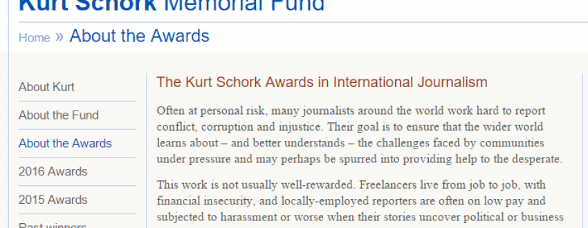 Kurt Schork Awards in International Journalism