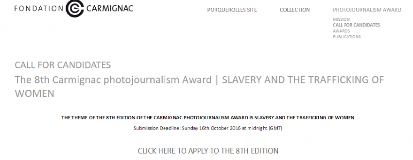 8th Carmignac Photojournalism Award